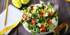 Healthy fitness salad